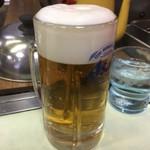 お好み焼き くいしん坊 - 生ビール中550円