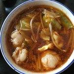 81138225 - 牛ホルモンつけ麺                       つけ汁(小辛)