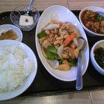 唐庄酒家  - 腰果鶏丁セット+ミニ麻婆豆腐