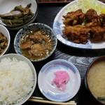 新潟 - からあげ定食(750円)