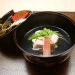 木山 - 料理写真:お碗 蛤と胡麻豆腐