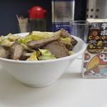 甲子家 - ミニチャーシュー丼のサイズ