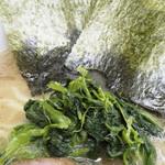 甲子家 - ほうれん草と海苔