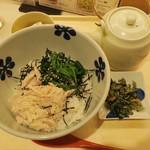 だし茶漬け えん - ・「朝飯 蒸し鶏と青菜(\520)」