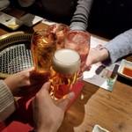 焼肉 433 - かんぱ~い(*^▽^)/□☆□\(^▽^*) かんぱーい!