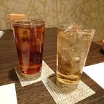 鷹勝 - ◆ジンジャーエールと烏龍茶、その後「緑茶」と「マンゴ」を頂きました。