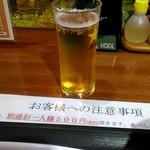 魚のあんよ - グラスビール。
