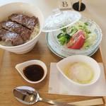 "SARA""S terrace Arraiya - ・「上州牛ロース丼(\1728)」"