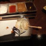 串揚げ えん藤 - カニの鱚(きす)巻き