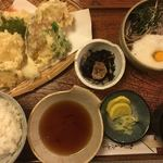 かやの木 - 天ぷら定食  1,400円