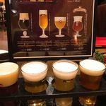 白雪ブルワリーレストラン長寿蔵 - ビールの飲み比べ