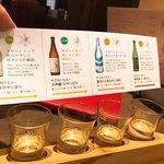 白雪ブルワリーレストラン長寿蔵 - 日本酒飲み比べ