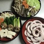菜々色マルシェ - 牡丹鍋の材料