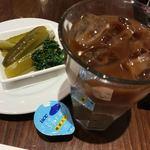 グルメ - ピクルス、アイスカフェオレ