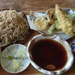 SANGA Soba&Coffee STAND - 料理写真:天ざる(蕎麦大盛り)