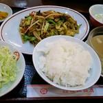 梅江飯店 - 肉野菜炒め定食