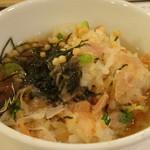 こめらく - 鮭といくらの北海ごはん(1,280円)(お茶漬けにして)
