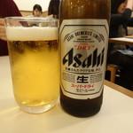 こめらく - 瓶ビール(小)(480円)