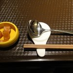 北新地 中国料理 星華 - 最初の配膳の様子