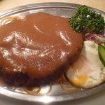 キッチン.トモ - ジャンボハンバーグ1000円 大きさと美味しさにビックリ!