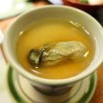 ねぎま - 小皿料理3/3(牡蠣の茶碗蒸し)