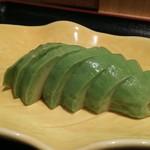 手打ちそば天ぷら 那央人 - 酒の肴に最高のアボガドぬか浸け  300円