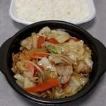 ほっともっと - 肉野菜炒め弁当(500円)