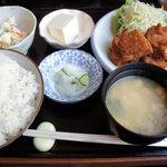 ごはん処 のぐっち - 鶏のからあげ定食(850円)