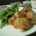 ポカポカ - 「日替わりランチ」のメインの鶏肉