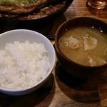 イベリコ豚おんどる焼 裏渋屋 - ご飯と豚汁