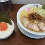 81184362 - 中華そば大盛と韓国風明太子ご飯