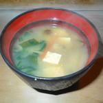 なかた寿司 - 味噌汁