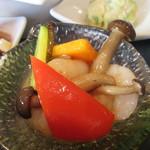 華湘 - 「海老と季節野菜の炒め」