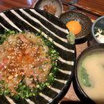 湯島 彩家 - 真鯛の特製漬け丼 1,200円