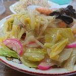 81188157 - 皿うどん細麺   野菜たっぷりは半端ない!
