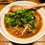 鶏ポタ ラーメン THANK - スパイシーポタこんにゃく麺(780円)