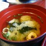 とさ市場 - 味噌汁(須崎定食)