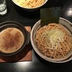 つけ麺 京都わたなべ - つけ麺 平打ち太麺(中) 濃厚魚介MIX 250g 900円