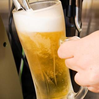 安い!お得!生ビール!何杯飲んでも190円でのご提供◎