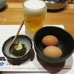 西新初喜 姪浜駅南店 - 福岡糸島産ブランド卵『つまんでご卵』。