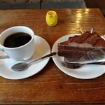 珈琲館タカヤ - チョコレートケーキセット