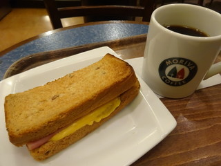 モリバ コーヒー 池袋二丁目店 - ハムチーズトーストセット