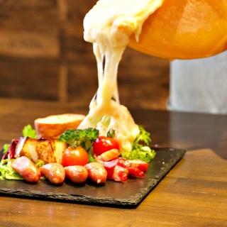 名物ラクレットチーズは食べ方いろいろ◎タパスはALL300円