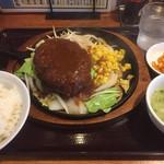 三珍 富士力食堂 - ♪大玉ハンバーグ定食¥961
