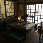 Kyoudoryourioshokujidokorowaraku - 待合室には囲炉裏。
