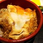 花ごよみ - かすうどん(850円)にミニかつ丼セット(+470円)。