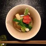 日本料理 まめぞう - ●白子豆腐の揚げ出し●私は白子が苦手なので肉だんごになってました(˚ ˃̣̣̥ω˂̣̣̥ )