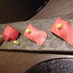 日本料理 まめぞう - ●本マグロのお寿司●相変わらず本マグロネットリと美味しい。お寿司も美味しい。
