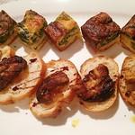 シップ・シェイプ - フォアグラのブリスケッタ&ツナと菜の花のキッシュ
