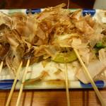 串焼き いの田 - 椎茸、玉ねぎ、ししとう